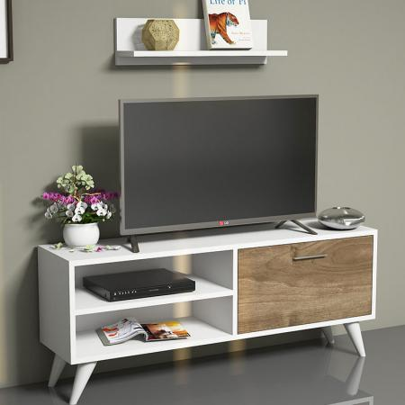 Suport TV Party TV Unit pakoworld alb - nuc 30x120x48